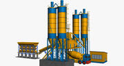 Impianto di betoniera 3d model