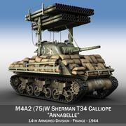 M4A3 Каллиопа Аннабель 3d model