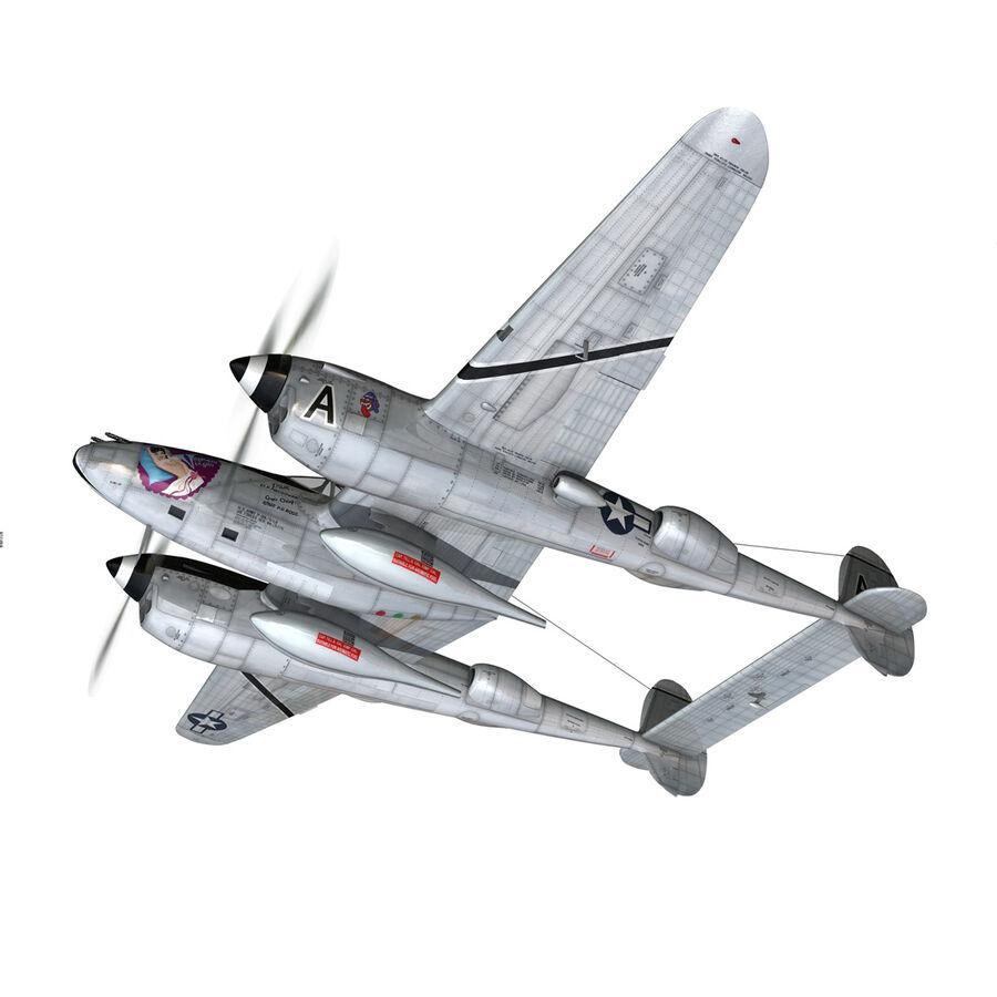 록히드 P-38 라이트닝-방랑자 버진 royalty-free 3d model - Preview no. 3