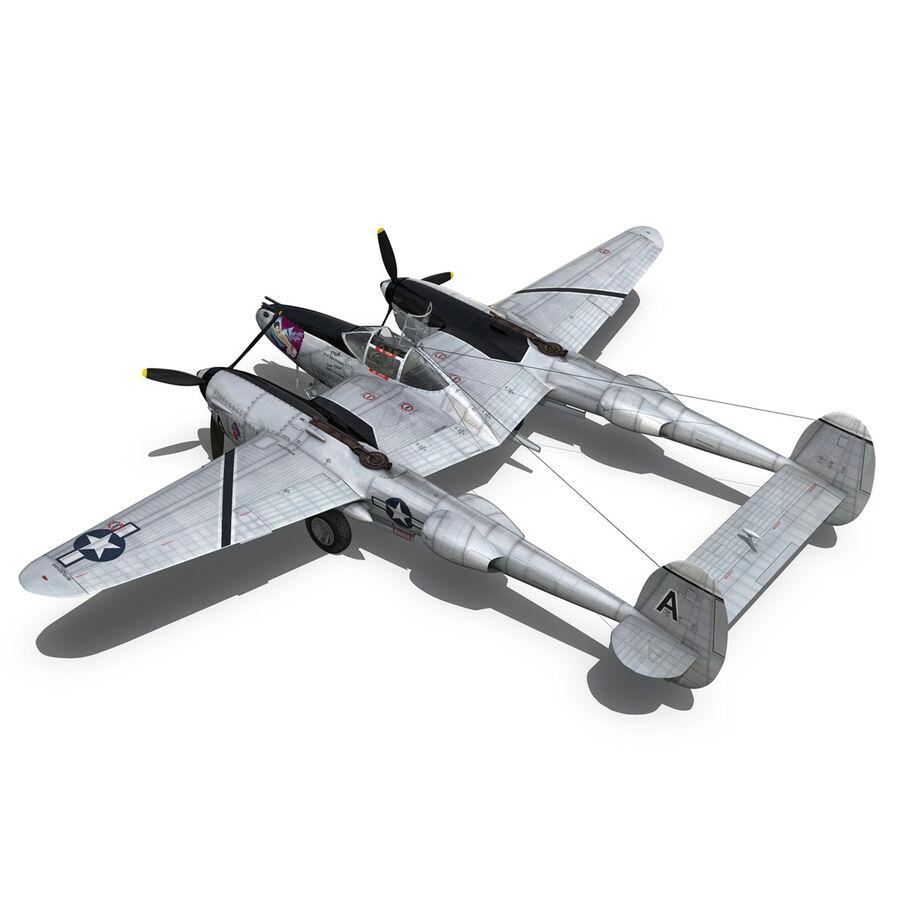 록히드 P-38 라이트닝-방랑자 버진 royalty-free 3d model - Preview no. 12