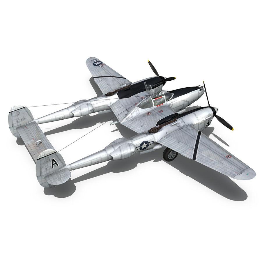 록히드 P-38 라이트닝-방랑자 버진 royalty-free 3d model - Preview no. 14
