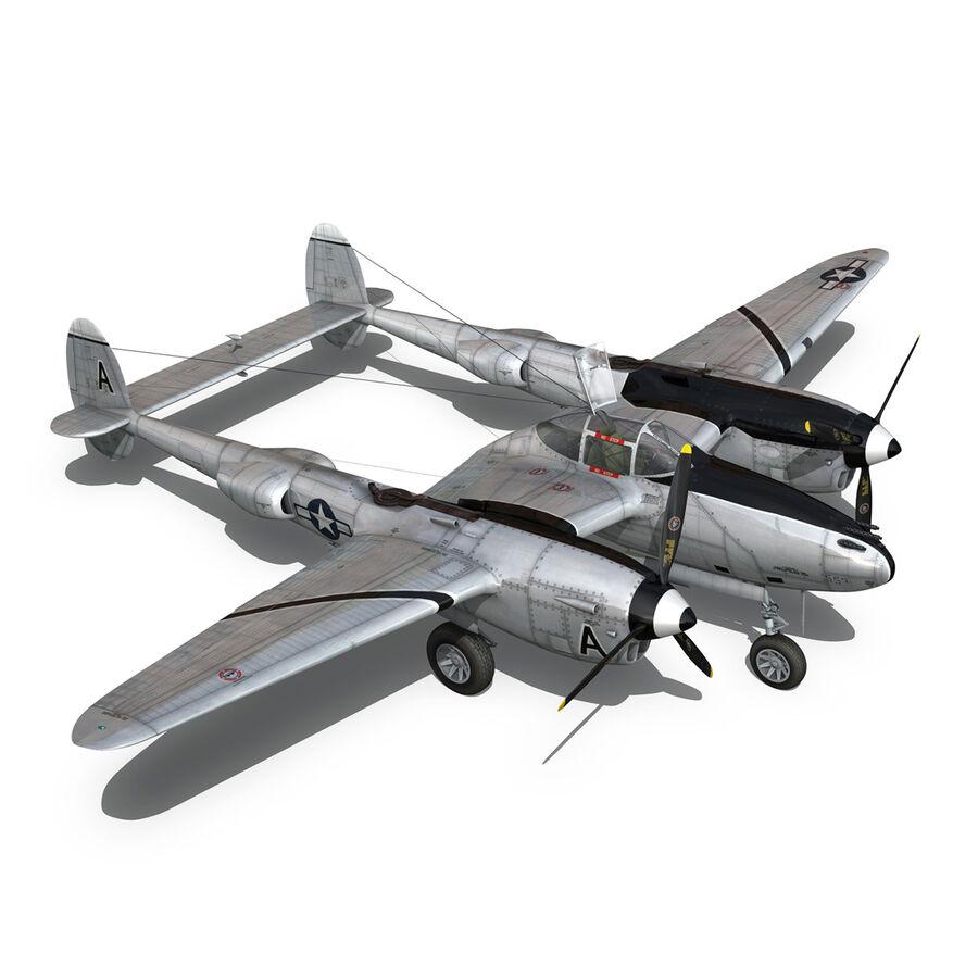 록히드 P-38 라이트닝-방랑자 버진 royalty-free 3d model - Preview no. 15