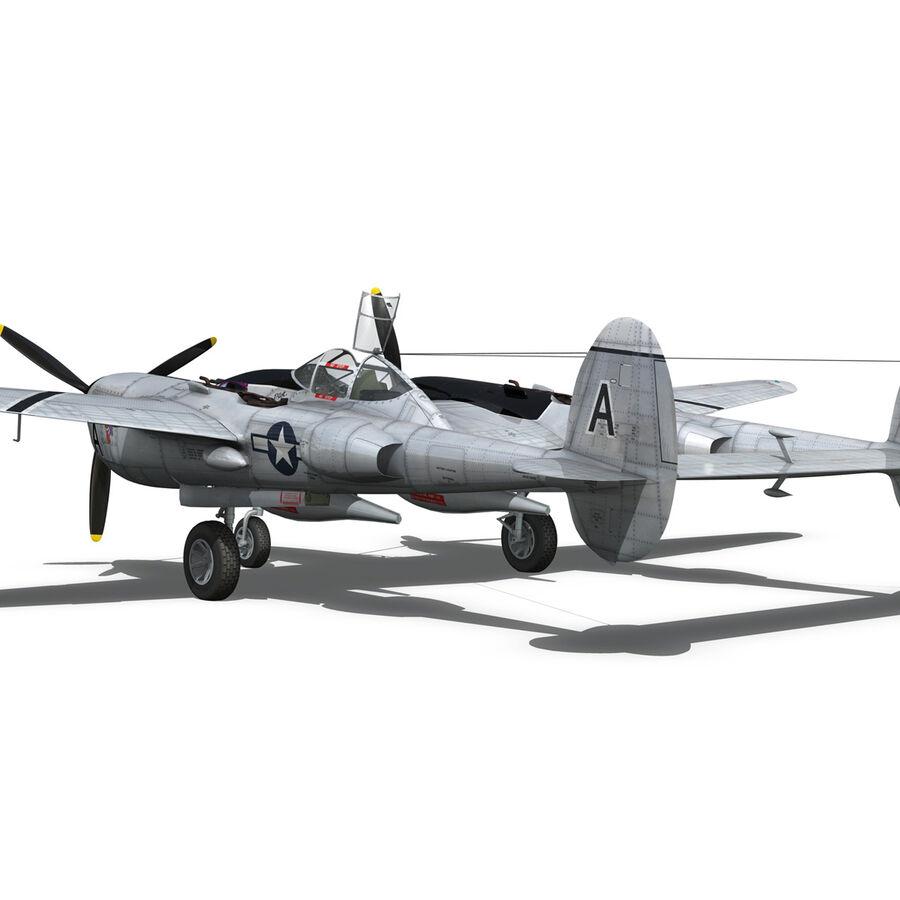 록히드 P-38 라이트닝-방랑자 버진 royalty-free 3d model - Preview no. 13
