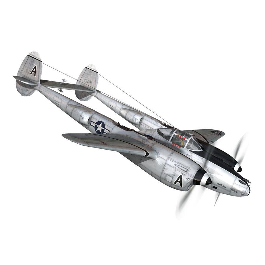 록히드 P-38 라이트닝-방랑자 버진 royalty-free 3d model - Preview no. 9