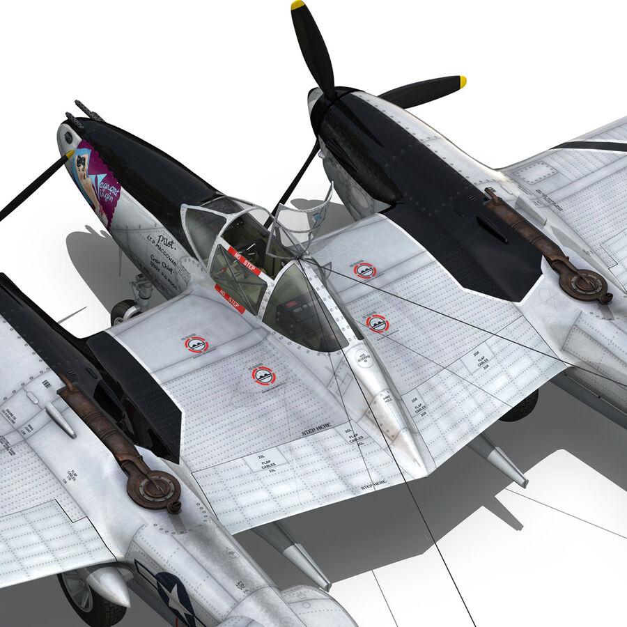 록히드 P-38 라이트닝-방랑자 버진 royalty-free 3d model - Preview no. 17