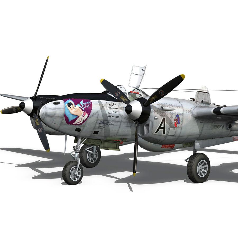 록히드 P-38 라이트닝-방랑자 버진 royalty-free 3d model - Preview no. 10