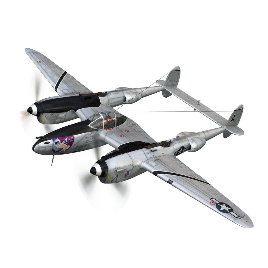 록히드 P-38 라이트닝-방랑자 버진 royalty-free 3d model - Preview no. 2