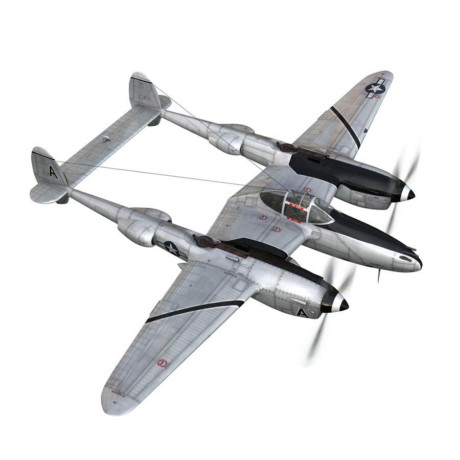 록히드 P-38 라이트닝-방랑자 버진 royalty-free 3d model - Preview no. 8