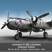 Lockheed P-38 Lightning - Vierge vagabonde 3d model