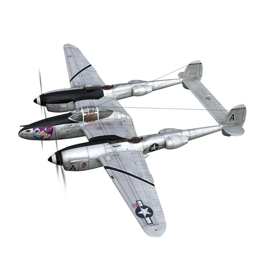록히드 P-38 라이트닝-방랑자 버진 royalty-free 3d model - Preview no. 4