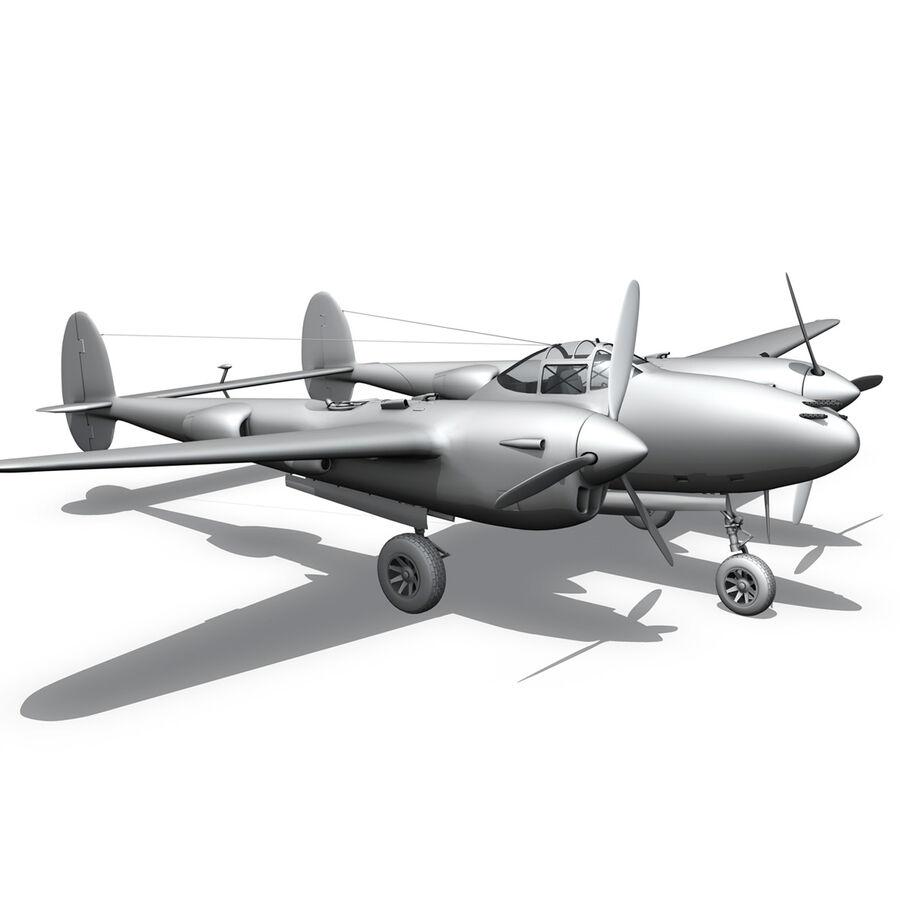 록히드 P-38 라이트닝-방랑자 버진 royalty-free 3d model - Preview no. 20