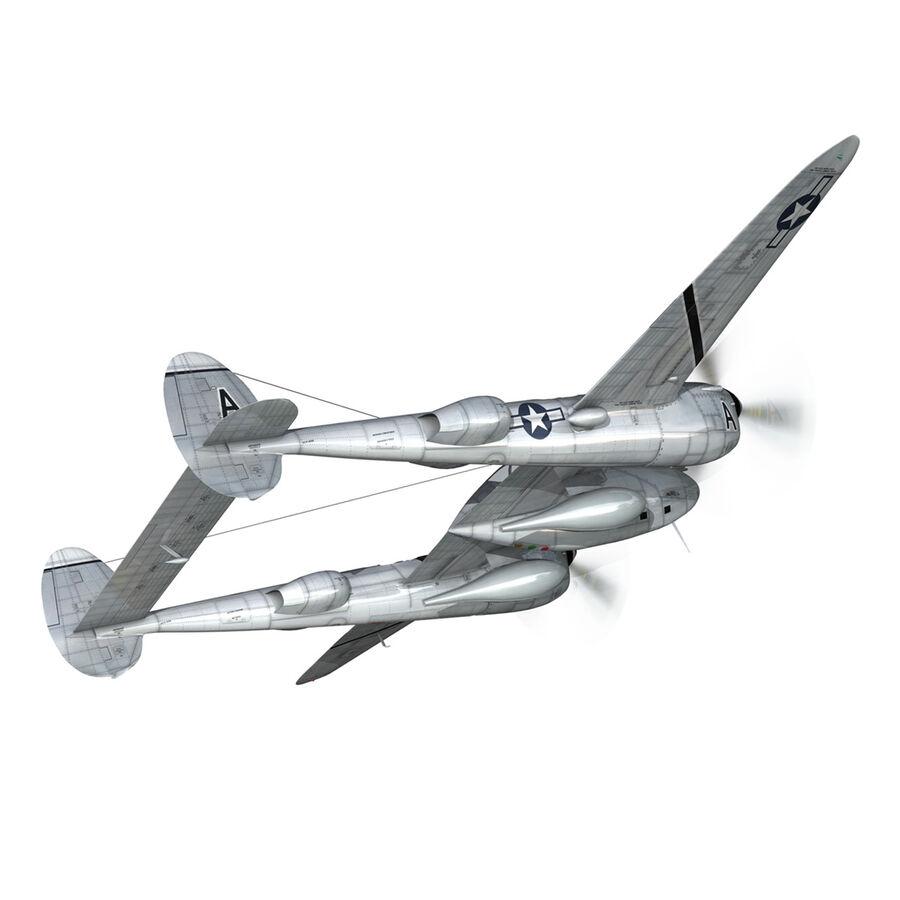 록히드 P-38 라이트닝-방랑자 버진 royalty-free 3d model - Preview no. 7