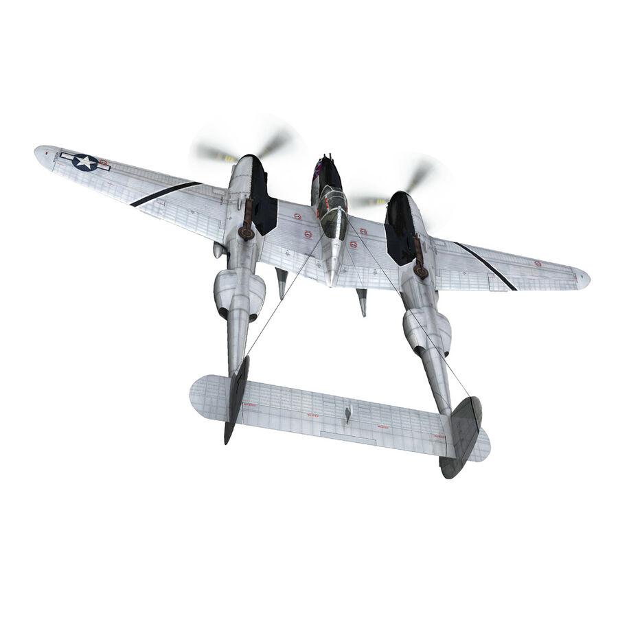 록히드 P-38 라이트닝-방랑자 버진 royalty-free 3d model - Preview no. 6