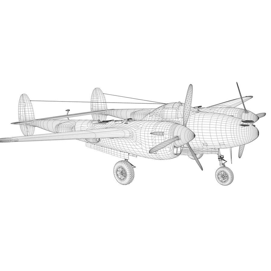 록히드 P-38 라이트닝-방랑자 버진 royalty-free 3d model - Preview no. 21