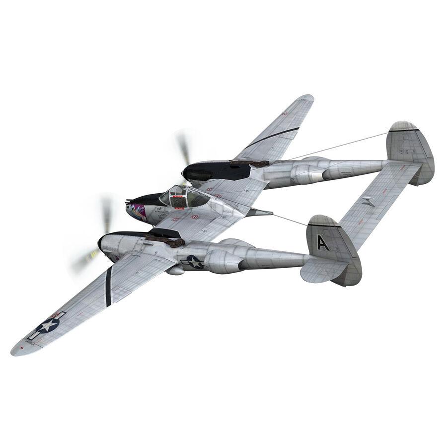 록히드 P-38 라이트닝-방랑자 버진 royalty-free 3d model - Preview no. 5