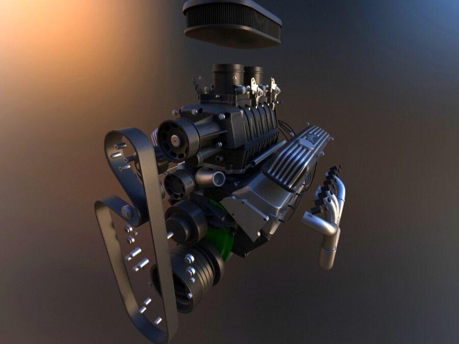 Edelbrock电动增压器 royalty-free 3d model - Preview no. 3