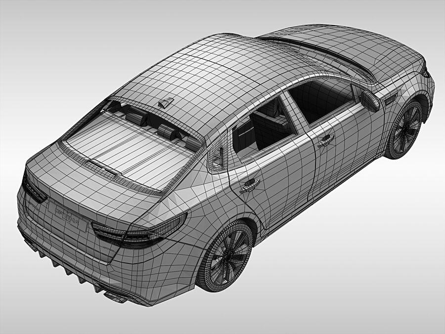 Kia Optima (2016) royalty-free 3d model - Preview no. 12