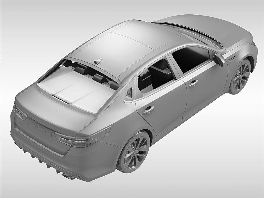 Kia Optima (2016) royalty-free 3d model - Preview no. 9