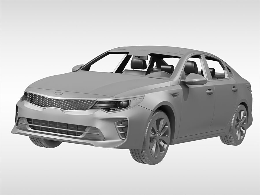 Kia Optima (2016) royalty-free 3d model - Preview no. 7