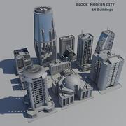 블록 현대 도시 (1) 3d model