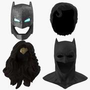 Batman Cowl en Power Armor en Superman en Wonder Woman Hair and Headpiece Collection 3d model