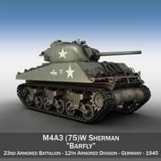 M4A3 75 мм - Шерман - Barfly 3d model