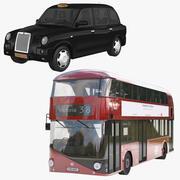 London Bus & Taxi 3d model