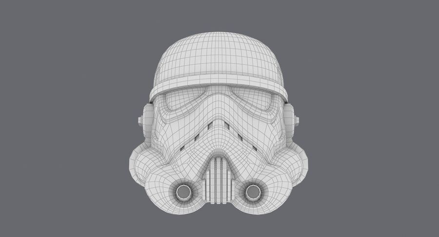 Collection de casques Star Wars royalty-free 3d model - Preview no. 7