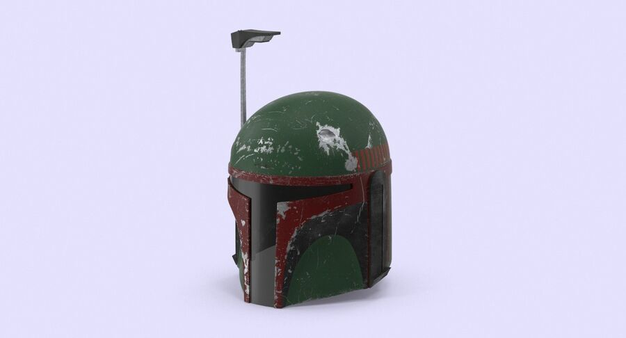 Collection de casques Star Wars royalty-free 3d model - Preview no. 15