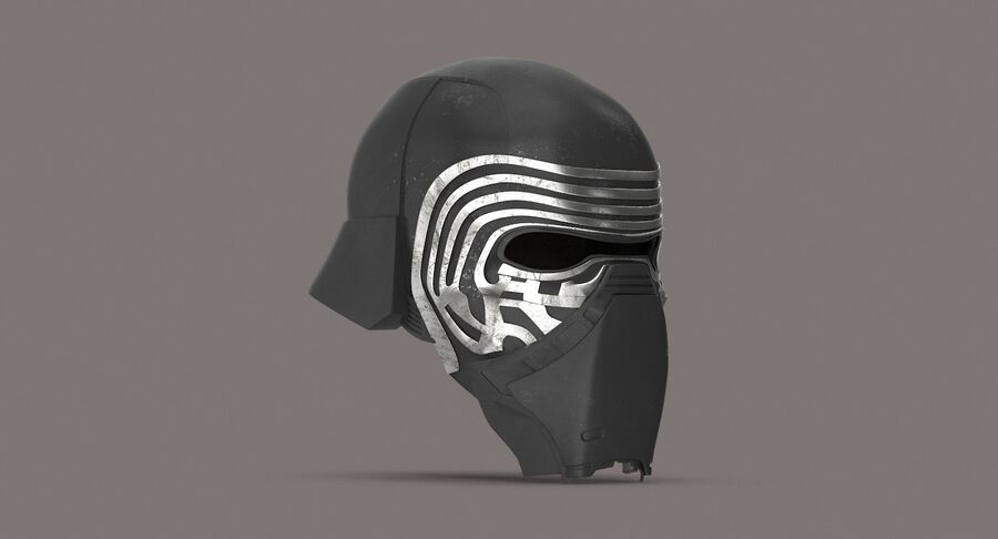 Collection de casques Star Wars royalty-free 3d model - Preview no. 24