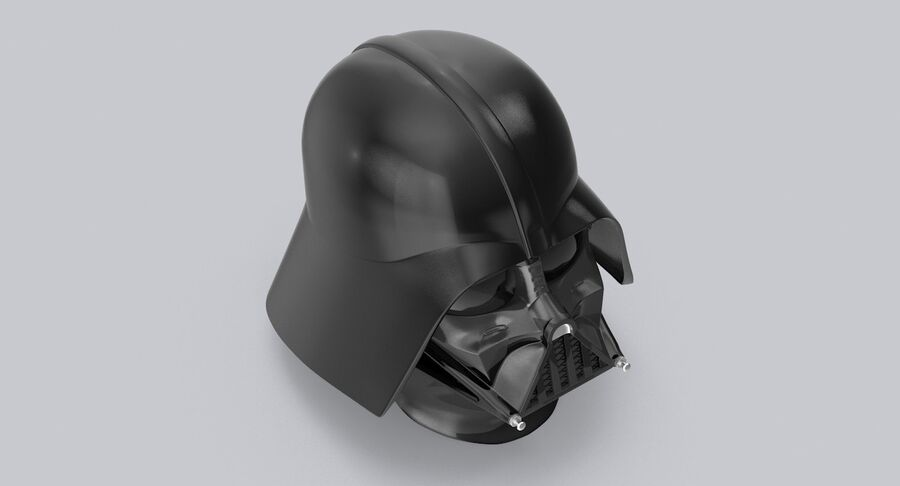 Collection de casques Star Wars royalty-free 3d model - Preview no. 10