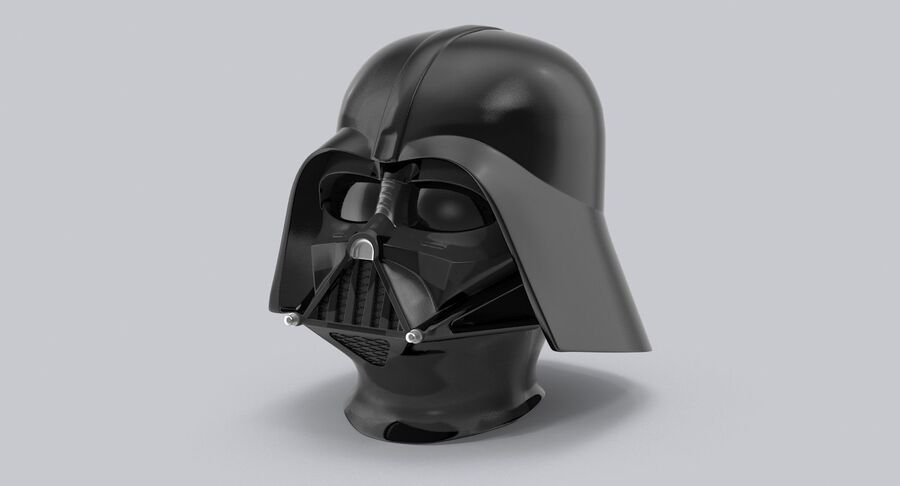 Collection de casques Star Wars royalty-free 3d model - Preview no. 9
