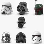 Collection de casques Star Wars 3d model