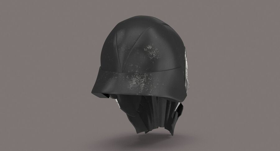 Collection de casques Star Wars royalty-free 3d model - Preview no. 23
