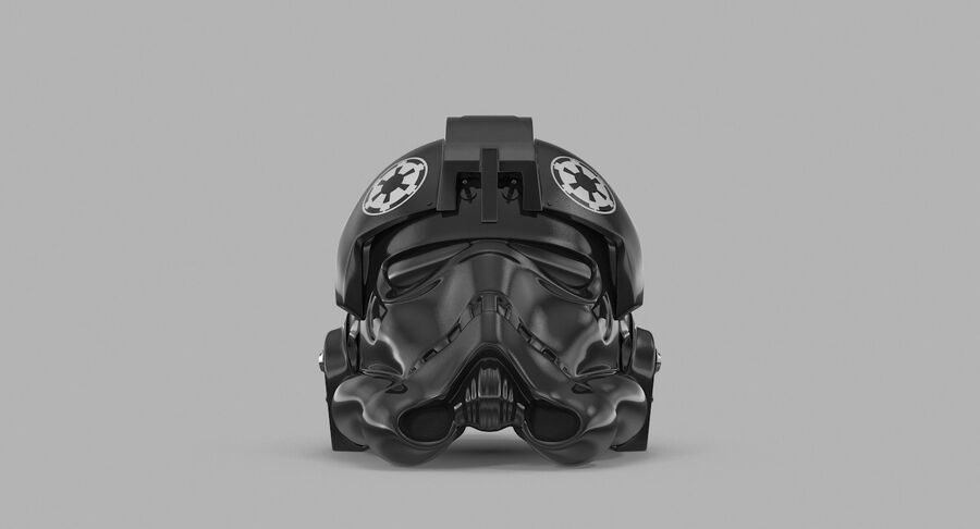 Collection de casques Star Wars royalty-free 3d model - Preview no. 34