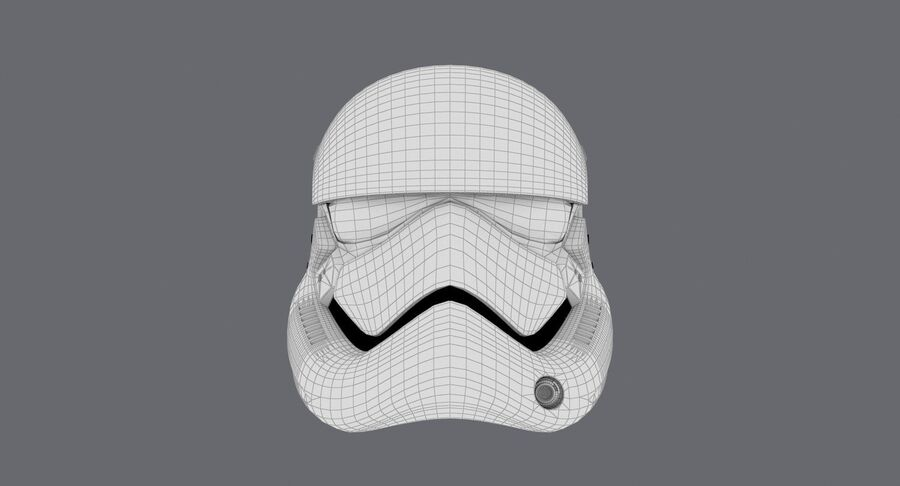 Collection de casques Star Wars royalty-free 3d model - Preview no. 43