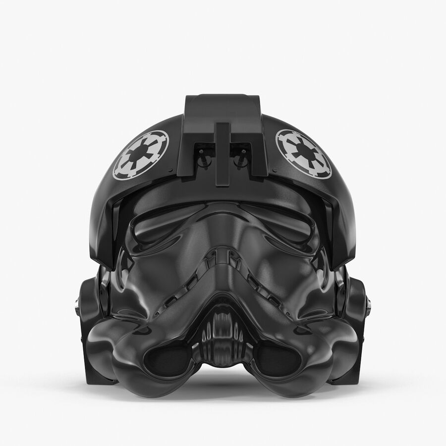 Collection de casques Star Wars royalty-free 3d model - Preview no. 32