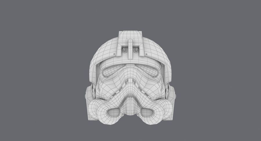 Collection de casques Star Wars royalty-free 3d model - Preview no. 37