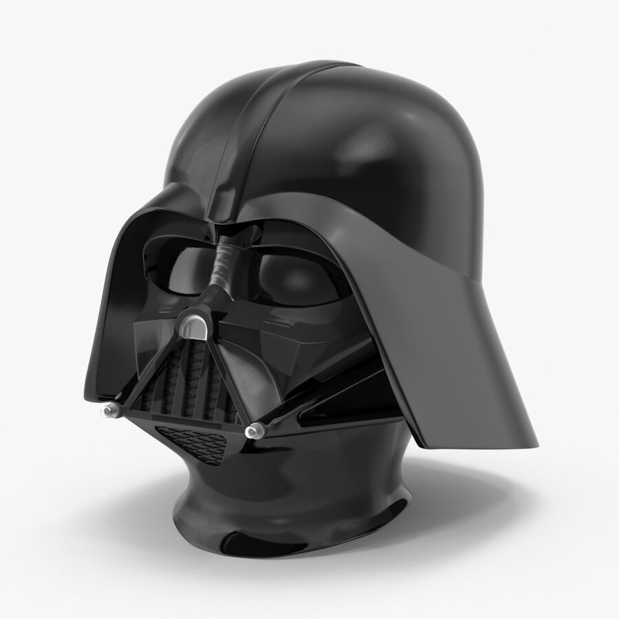 Collection de casques Star Wars royalty-free 3d model - Preview no. 8