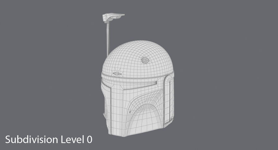 Collection de casques Star Wars royalty-free 3d model - Preview no. 19
