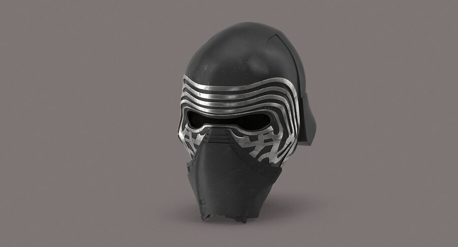 Collection de casques Star Wars royalty-free 3d model - Preview no. 22