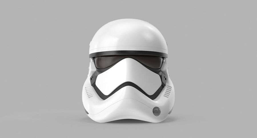 Collection de casques Star Wars royalty-free 3d model - Preview no. 40