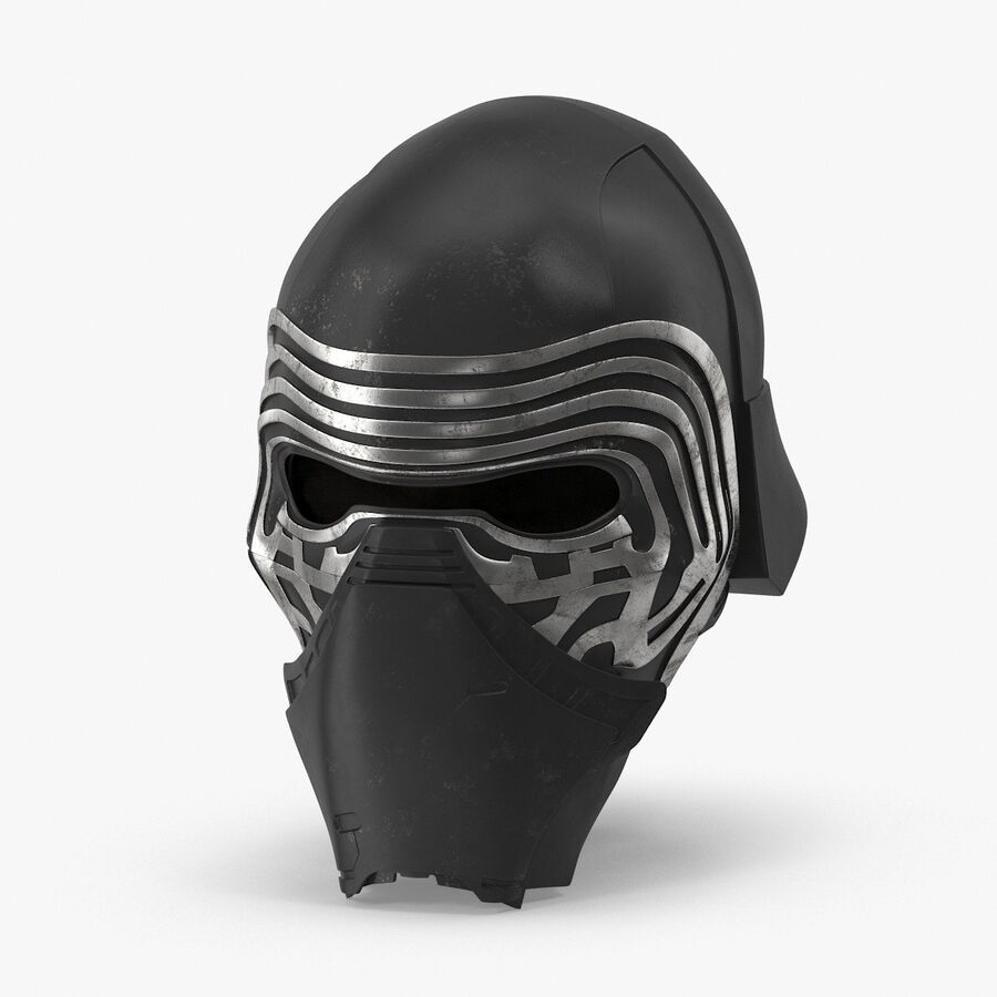 Collection de casques Star Wars royalty-free 3d model - Preview no. 20