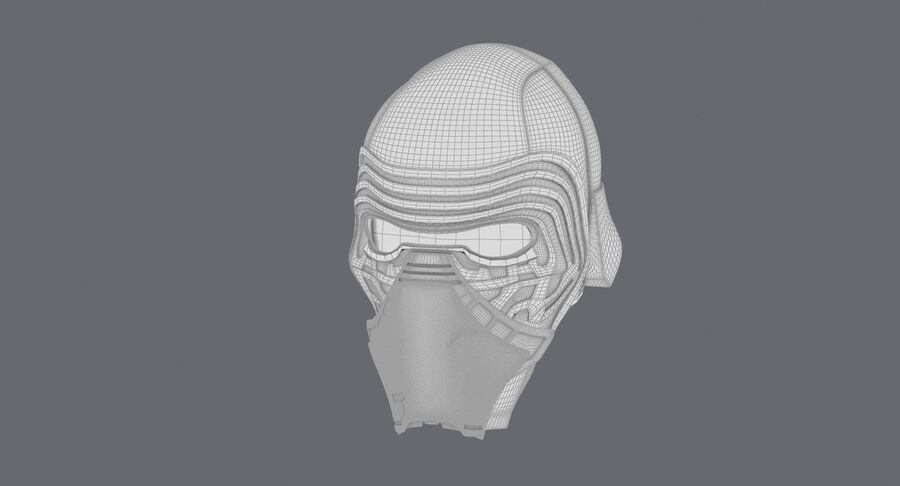 Collection de casques Star Wars royalty-free 3d model - Preview no. 25