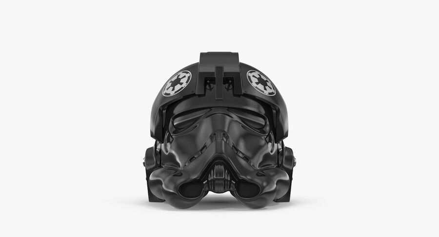 Collection de casques Star Wars royalty-free 3d model - Preview no. 33