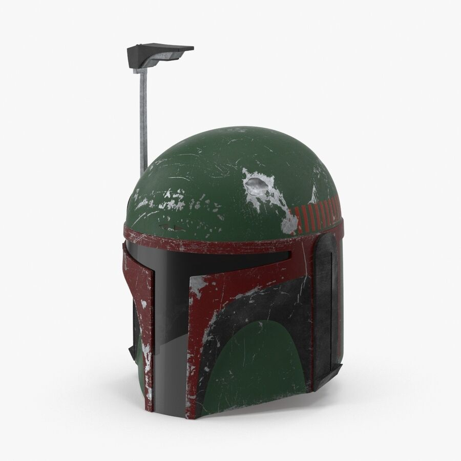 Collection de casques Star Wars royalty-free 3d model - Preview no. 14