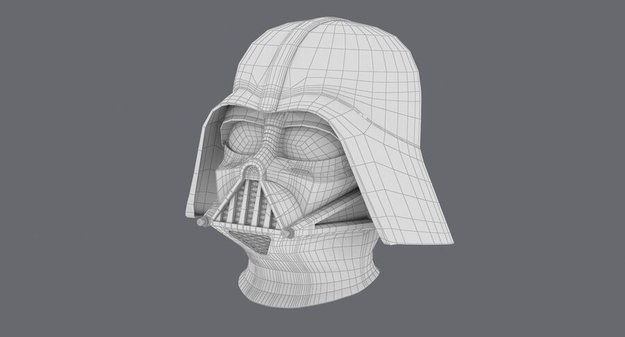 Collection de casques Star Wars royalty-free 3d model - Preview no. 13