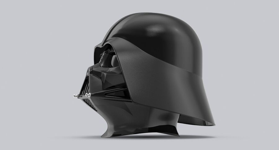 Collection de casques Star Wars royalty-free 3d model - Preview no. 11
