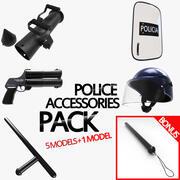 Pakiet akcesoriów policyjnych 3d model