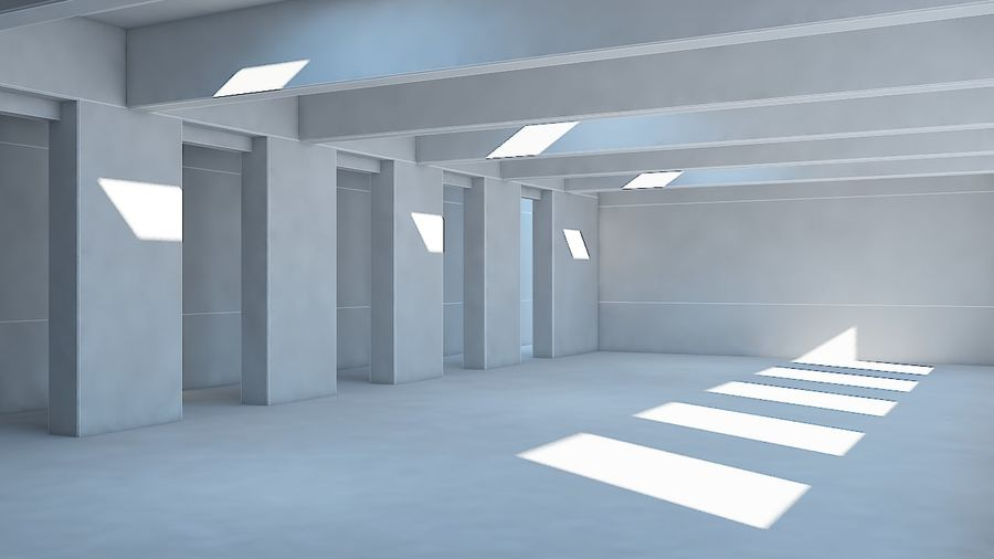 Industrial room royalty-free 3d model - Preview no. 9